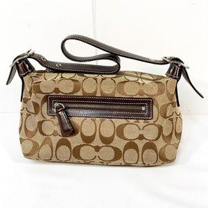 COACH CC Logo Pattern Mini Single Strap Bag Purse